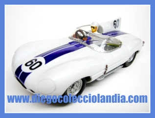 "JAGUAR D-TYPE 1957 "" BRIDGEHAMPTON "" DE CARRERA EVOLUTION REF/ 25786. COCHE NUEVO SIN CAJA. TODOS LOS COCHES DE SLOT DE LA WEB, SON COMPATIBLES CON CIRCUITOS SCALEXTRIC, SUPERSLOT, NINCO Y CARRERA."