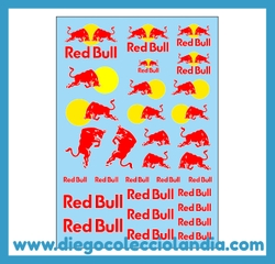 "CALCAS "" RED BULL "" DE CARTRIX REF / 1539 . CALCAS AL AGUA ESCALA 1/32 PARA DECORAR TUS COCHES DE SLOT, TUS COCHES DE SCALEXTRIC . WWW.DIEGOCOLECCIOLANDIA.COM . TIENDA SCALEXTRIC MADRID ESPAÑA. SLOT CARS SHOP MADRID SPAIN . CALCAS CARTRIX - MITOOS"