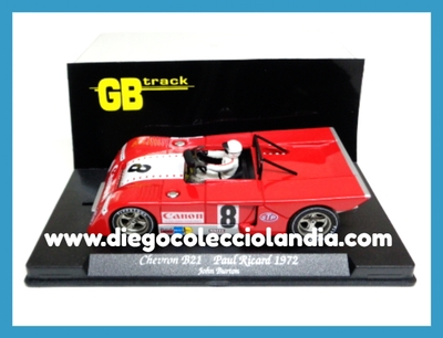 "CHEVRON B21 "" PAUL RICARD 1872 "" DE GB TRACK - FLY CAR MODEL REf / GB23 . TODOS LOS COCHES DE SLOT DE LA WEB, SON COMPATIBLES CON CIRCUITOS SCALEXTRIC, SUPERSLOT, NINCO Y CARRERA.......... www.diegocolecciolandia.com . Tienda Scalextric Slot Madrid España. Slot Cars Shop Madrid Spain."