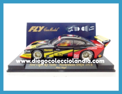 "FORD CAPRI RS TURBO "" HOCKENHEIM DRM 1978 "" DE FLY CAR MODEL REF/ A144L .COCHE CON LUCES. TODOS LOS COCHES DE SLOT DE LA WEB SON, COMPATIBLES CON CIRCUITOS SCALEXTRIC, SUPERSLOT, NINCO Y CARRERA..........  www.diegocolecciolandia.com . Tienda scalextric Slot Madrid España. Slot Cars Shop Madrid Spain"