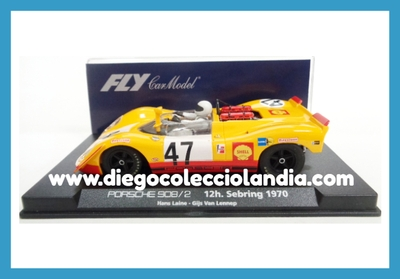 "PORSCHE 908/2 "" 12H. SEBRING 1970 "" DE FLY CAR MODEL REF/ 88098 . TODOS LOS COCHES DE SLOT DE LA WEB, SON COMPATIBLES CON CIRCUITOS SCALEXTRIC, SUPERSLOT, NINCO Y CARRERA..... www.diegocolecciolandia.com . Tienda Slot Scalextric Madrid España . Slot Cars Shop Madrid Spain ."