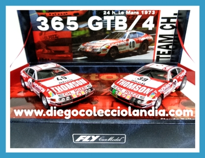 "TEAM FERRARI 365 GTB/4 "" 24h. LE MANS 1873 "" DE FLY CAR MODEL REF/ 96047 / TEAM09 .EDICIÓN LIMITADA.TODOS LOS COCHES DE SLOT DE LA WEB, SON COMPATIBLES CON CIRCUITOS SCALEXTRIC, SUPERSLOT, NINCO Y CARRERA.............. www.diegocolecciolandia.com . Tienda Slot, Scalextric Madrid, España. Slot Cars Shop Spain."