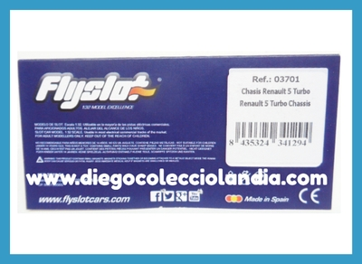 CHASIS RENAULT 5 TURBO DE FLYSLOT REF / 03701 .  COMPATIBLE CON FLY CAR MODEL . ACCESORIOS , RECAMBIOS Y REPUESTOS PARA COCHES FLYSLOT / FLY CAR MODEL . www.diegocolecciolandia.com . Tienda Scalextric Slot Madrid España . Slot Cars Shop Madrid Spain .