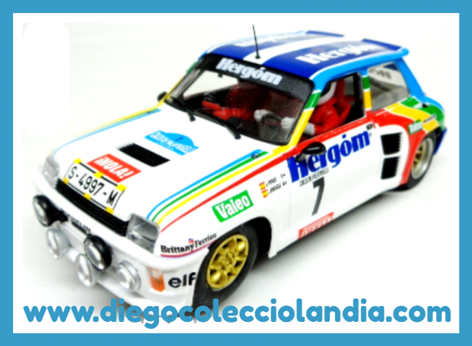 "RENAULT 5 TURBO "" RALLY CALES DE PALAFRUGELL 1986 / JESÚS PURAS "" . EDICIÓN FORO SLOT 2017 DE FLYSLOT REF / 037303 .  TODOS LOS COCHES DE SLOT DE LA WEB, SON COMPATIBLES CON CIRCUITOS SCALEXTRIC, SUPERSLOT, NINCO Y CARRERA........ www.diegocolecciolandia.com . Tienda Slot, Scalextric Madrid, España. Slot Cars Shop Spain."