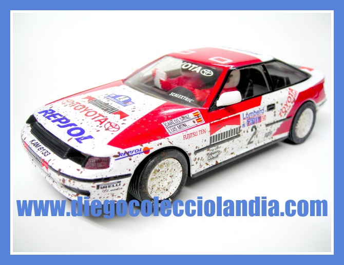 "TOYOTA CELICA "" EFECTO SUCIO "" CARLOS SAINZ DE SCALEXTRIC / ALTAYA.  COCHE NUEVO A ESTRENAR SIN CAJA. ( LOS COCHES DE SCALEXTRIC / PLANETA Y ALTAYA, NO SE VENDIERON, EN SU MOMENTO, CON CAJA )