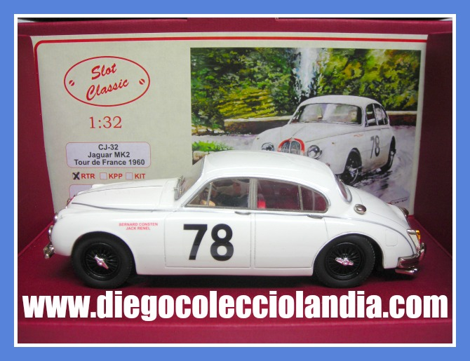 "JAGUAR MK2 ""TOUR DE FRANCE 1960"" DE SLOT CLASSIC REF/ CJ-32 ( VERSIÓN RTR ) . COCHE DE RESINA ARTESANAL . TODOS LOS COCHES DE SLOT DE LA WEB, SON COMPATIBLES CON CIRCUITOS SCALEXTRIC, SUPERSLOT, NINCO Y CARRERA........................... www.diegocolecciolandia.com . Slot Cars Shop Madrid, Spain. Tienda Slot, Scalextric Madrid, España."