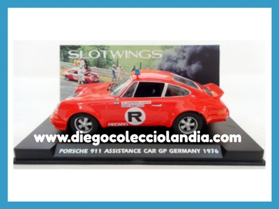 "PORSCHE 911 "" ASSISTANCE CAR GP GERMANY 1976 "" DE SLOTWINGS REF / W036-01 .TODOS LOS COCHES DE SLOT DE LA WEB, SON COMPATIBLES CON CIRCUITOS SCALEXTRIC, SUPERSLOT, NINCO Y CARRERA........ www.diegocolecciolandia.com . Tienda Slot Scalextric Madrid España. Slot Cars Shop Spain."