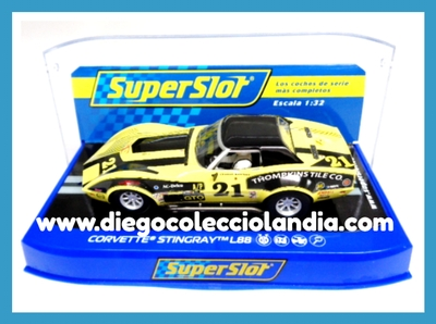 "CHEVROLET CORVETTE STINGRAY L88 "" AMERICAN ROAD RACE OF CHAMPIONS 1973 "" DE SUPERSLOT REF/ H3726 . TODOS LOS COCHES DE SLOT DE LA WEB, SON COMPATIBLES CON CIRCUITOS SCALEXTRIC, SUPERSLOT, NINCO Y CARRERA........................... www.diegocolecciolandia.com . Tienda Slot, Scalextric Madrid, España. Slot Cars Shop Spain."