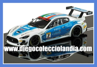 "MASERATI TROFEO #7 "" MASERATI WORLD SERIES 2012 "" DE SUPERSLOT REF/ H3507. TODOS LOS COCHES DE SLOT DE LA WEB, SON COMPATIBLES CON CIRCUITOS SCALEXTRIC, SUPERSLOT, NINCO Y CARRERA."