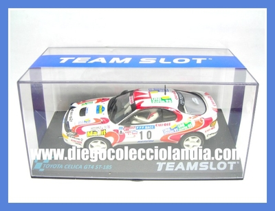 "TOYOTA CELICA GT4 ST-185 ""CATALUÑA 94"" DE TEAM SLOT REF/ 11707 / PDV01011707 . TODOS LOS COCHES DE SLOT DE LA WEB, SON COMPATIBLES CON CIRCUITOS SCALEXTRIC, SUPERSLOT, NINCO Y CARRERA..... www.diegocolecciolandia.com . SLOT CARS SHOP SPAIN ."